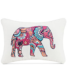 "Vera Bradley Elephant 12"" x 18"" Decorative Pillow"