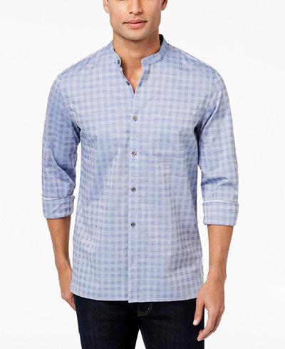 Calvin Klein Men's Band-Collar Dobby Shirt