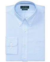 e411c323 Lauren Ralph Lauren Men's Classic/Regular Fit Non-Iron Stretch Pinpoint  Dress Shirt