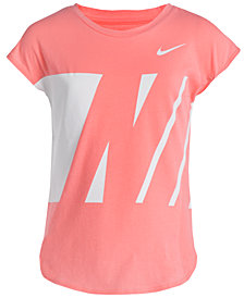 Nike Logo-Print Colorblocked Cotton T-Shirt, Little Girls