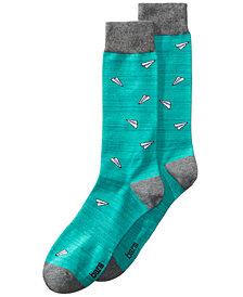 Bar III Men's Paper Plane Socks, Created for Macy's