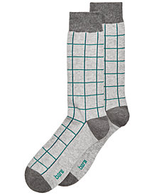 Bar III Men's Windowpane Plaid Socks, Created for Macy's