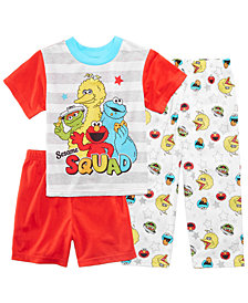 Sesame Street 3-Pc. Pajama Set, Toddler Boys