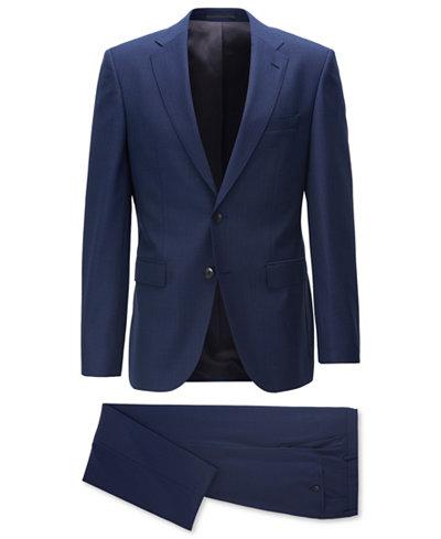 BOSS Men's Regular/Classic-Fit Basketweave Suit