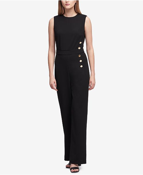 a5291a3cd067 ... DKNY Buttoned Sleeveless Jumpsuit