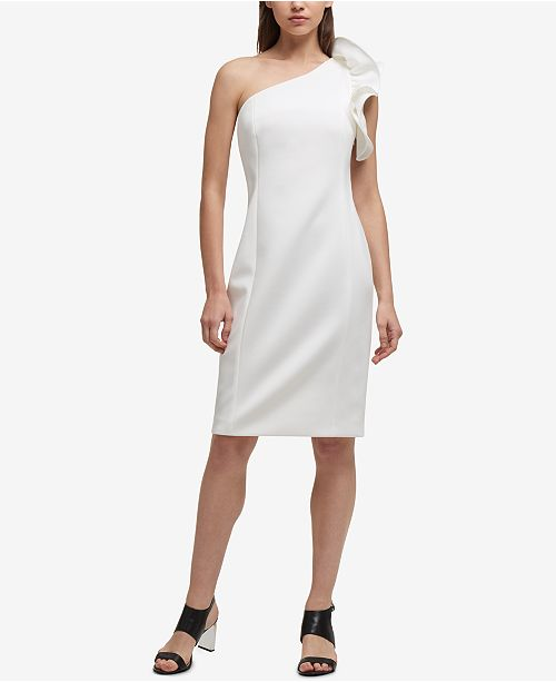 DKNY One-Shoulder Sheath Dress, Created for Macy's