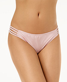 Hula Honey Juniors' Ring True Strappy Bikini Bottoms, Created for Macy's