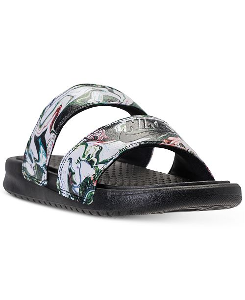 3844f6c8dbfd Nike Women s Benassi Duo Ultra Slide Sandals from Finish Line ...