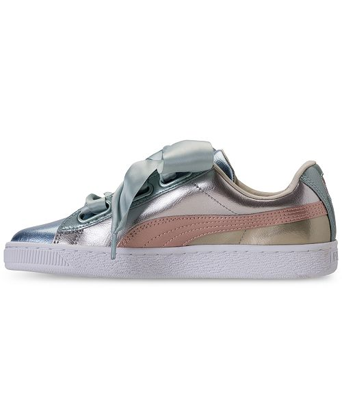 newest 1f3e2 4ff8a Puma Women's Basket Heart Bauble Casual Sneakers from Finish ...