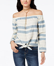 Roxy Juniors' Cotton Off-The-Shoulder Top