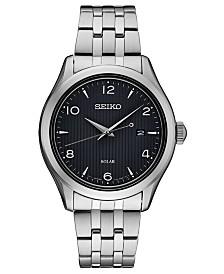 Seiko Men's Solar Essentials Stainless Steel Bracelet Watch 42mm