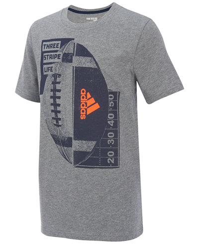 adidas Football-Print T-Shirt, Big Boys