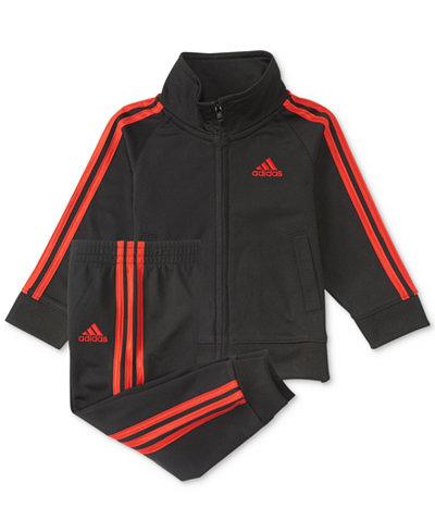 adidas 2-Pc. Iconic Tricot Jacket & Pants Set, Little Boys
