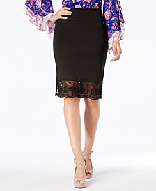 Thalia Sodi Contrast Pencil Skirt, Created for Macy's