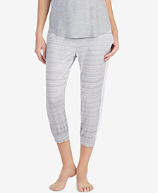 DKNY Contrast-Band Cropped Pajama Pants