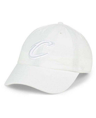 '47 Brand Cleveland Cavaliers White CLEAN UP Cap