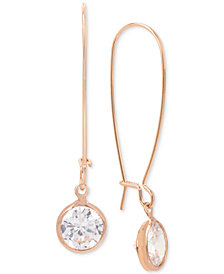 Kenneth Cole New York Rose Gold-Tone Cubic Zirconia Drop Earrings