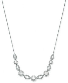 "Danori Silver-Tone Crystal & Pavé Collar Necklace, 16"" + 2"" extender (Also Available in Rose-Gold Tone)"