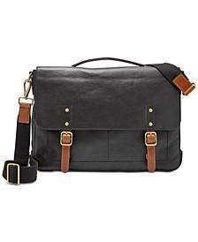 Men's Defender Leather Portfolio Briefcase
