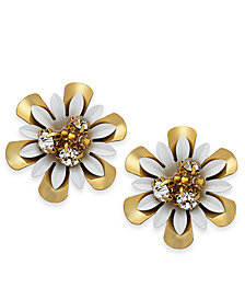 kate spade new york 14k Gold-Plated Bead & Crystal Coated Stud Earrings