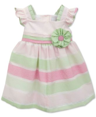 Rare Editions Striped Party Dress, Baby Girls