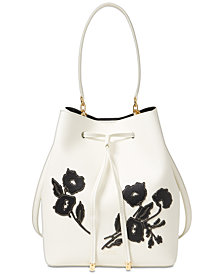 Lauren Ralph Lauren Dryden Debby Medium Drawstring Bucket Bag
