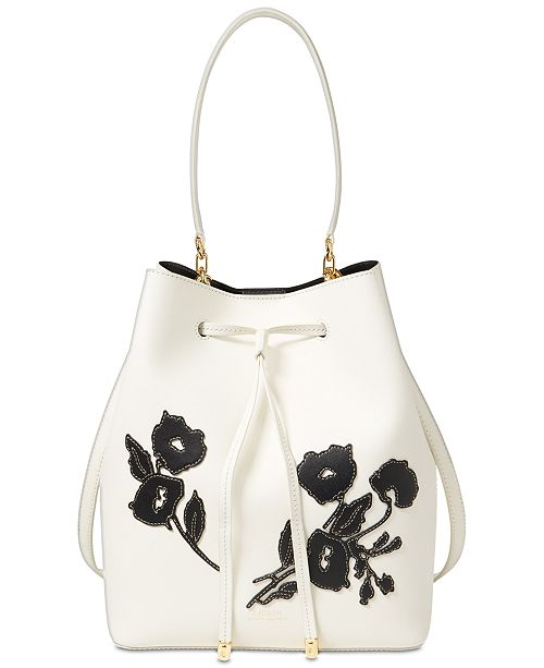 Lauren Ralph Lauren Dryden Debby Medium Drawstring Bucket Bag ... 47aea5d71edf9