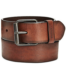 Hugo Boss Men's Jesse Distressed Casual Leather Belt