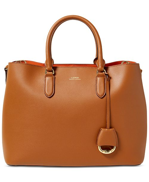 ffcf6340cfa4 Lauren Ralph Lauren Dryden Marcy Leather Tote   Reviews - Handbags ...