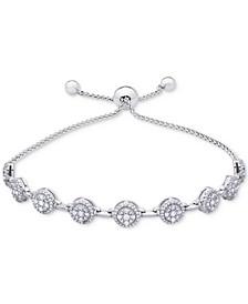 Diamond Cluster Bolo Bracelet (1 ct. t.w.) in 14k White Gold