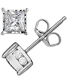 Trumiracle™ Diamond Stud Earrings (1/2 ct. t.w.) in 14k White Gold