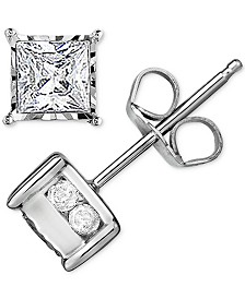 Trumiracle® Diamond Stud Earrings (1/2 ct. t.w.) in 14k White Gold