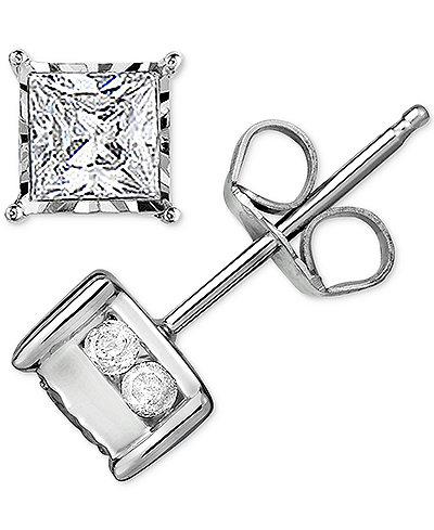 Trumiracle™ Diamond Stud Earrings (1/2 ct. t.w.) in 14k White Gold