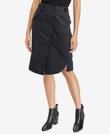 Polo Ralph Lauren Slit-Front Utility Cotton Skirt
