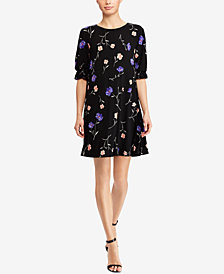Lauren Ralph Lauren Floral-Print Straight Fit Dress, Regular & Petite Sizes