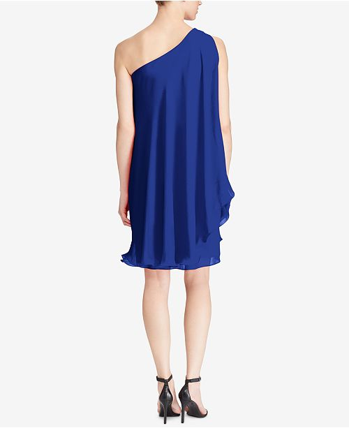 Lauren Ralph Lauren Londie Georgette One-Shoulder Dress - Dresses ...