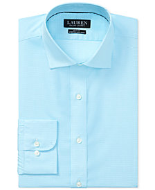 Ralph Lauren Men's Slim Fit Plaid Dress Shirt