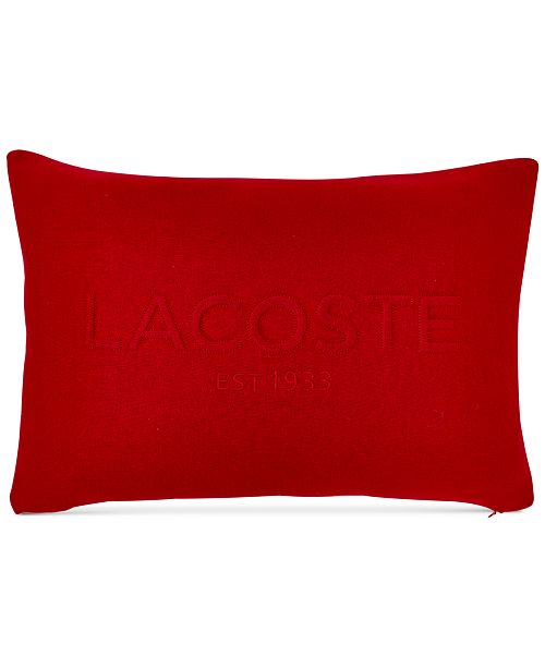 "Lacoste Home Embossed Jersey 12"" x 18"" Decorative Pillow"
