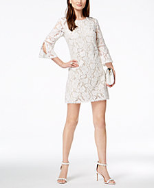 Vince Camuto 3/4-Sleeve Lace Dress