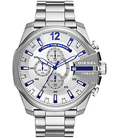 Diesel Men's Chronograph Mega Chief Stainless Steel Bracelet Watch 51mm