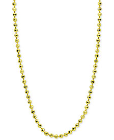 "Giani Bernini 20"" Beaded Link Necklace in 18k Gold-Plated Sterling Silver, Created for Macy's"