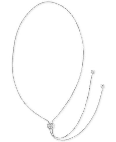 Giani Bernini Cubic Zirconia Lariat Necklace in Sterling Silver, Created for Macy's