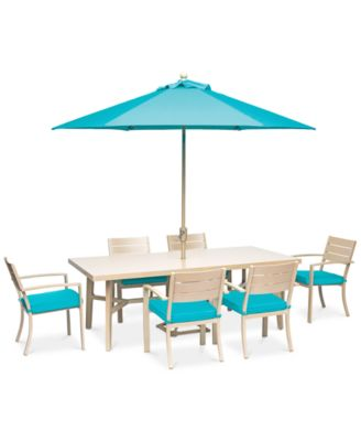 Beach House 7 Pc. Dining Set (84. Furniture
