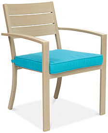 Beach House Outdoor Dining Chair, with Sunbrella® Cushions, Created for Macy's