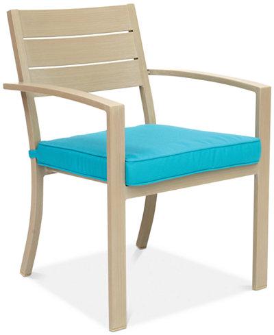 Beach House Outdoor Dining Chair, with Sunbrella® Cushions, Created for Macy's