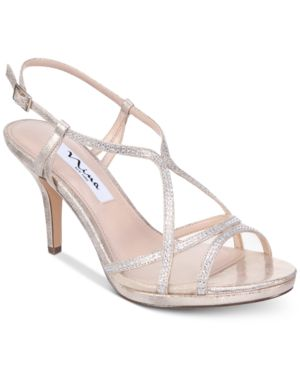 Nina Blossom Strappy Embellished Evening Sandals Women's Shoes 6684239