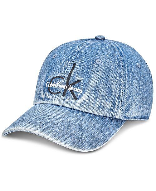 adcf8032 Calvin Klein Jeans Men's Denim Logo Cap; Calvin Klein Jeans Men's Denim  Logo ...