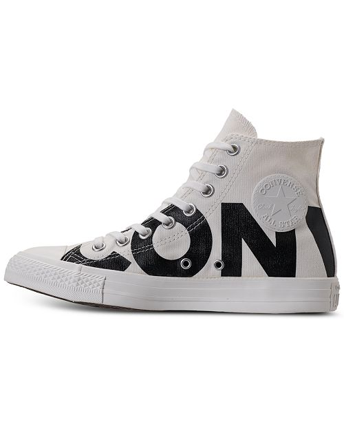c6ac3ddc70 ... Converse Men's Chuck Taylor All Star Wordmark High Top Casual Sneakers  from Finish ...