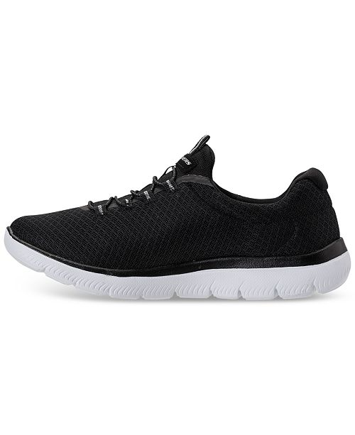 Skechers Womens Summits Wide Width Athletic Sneakers From Finish