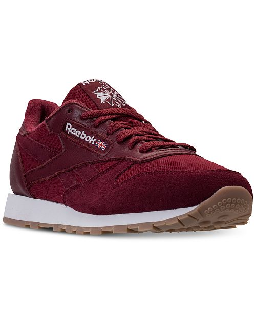 bf9782aa99fc ... Reebok Men s Classic Leather ESTL Casual Sneakers from Finish Line ...